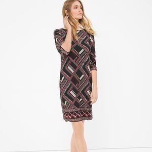 NWOT White House Black Market Dress 3/4 Sleeves